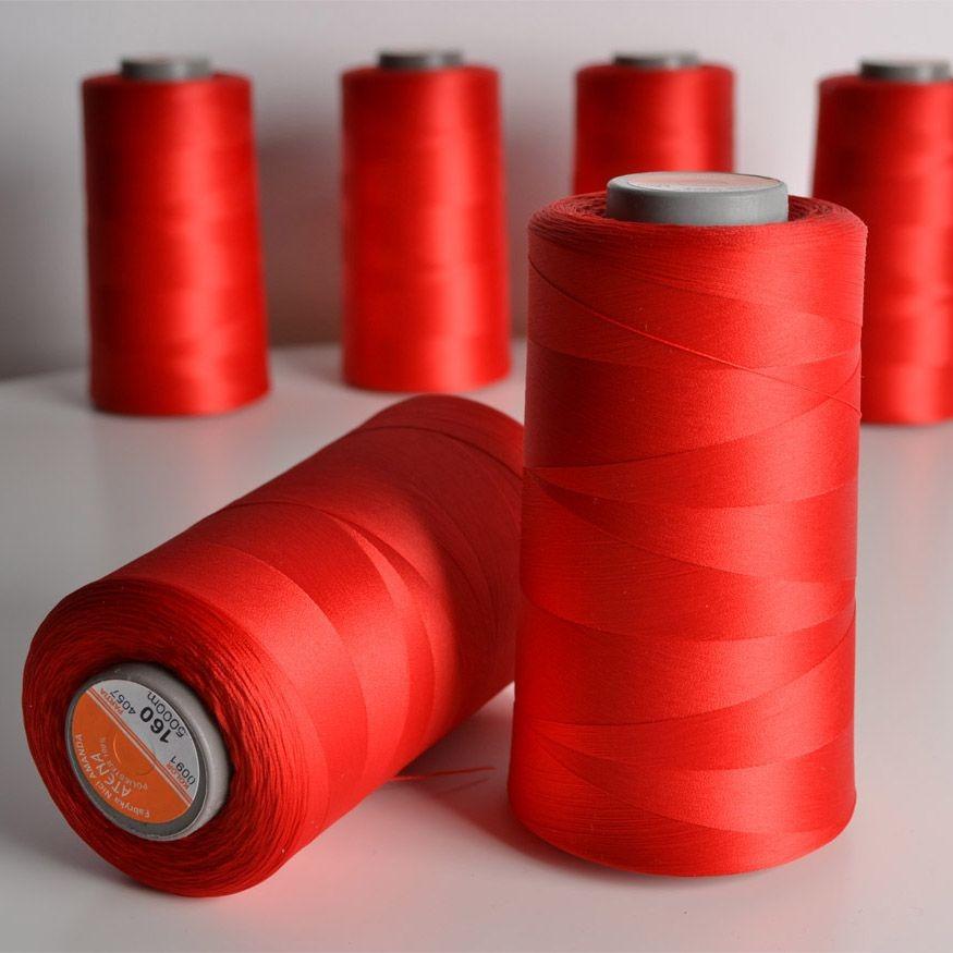 overlock-/-coverlock-elastická-nit-atena-5000-barva-červená-160