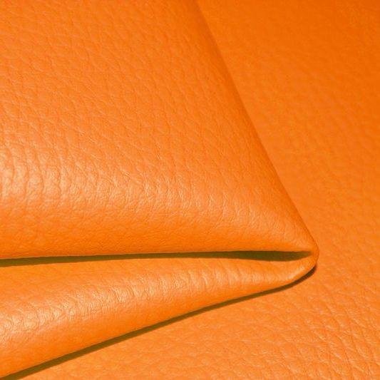 látka-ekokůže-(koženka)-barva-oranžová-d20