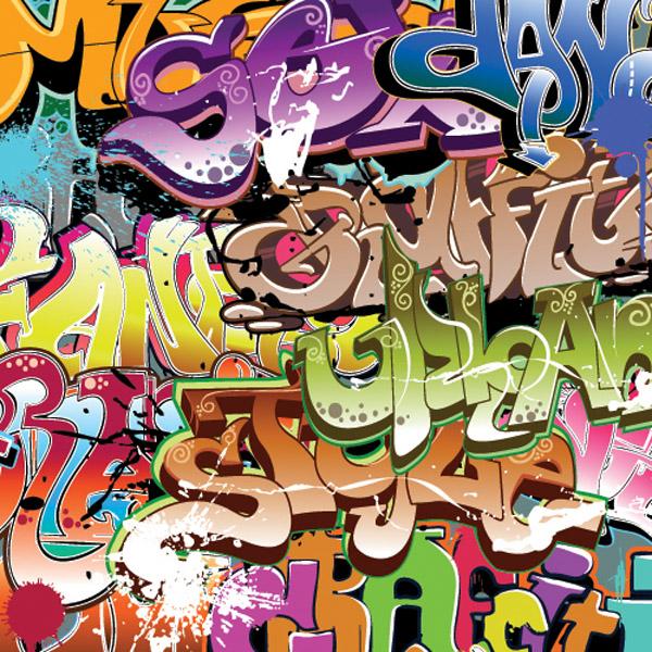 látka-softshell-zimní-city-grafitti