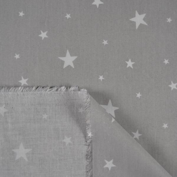 látka-bavlněné-plátno-premium-hvězdy-na-šedém