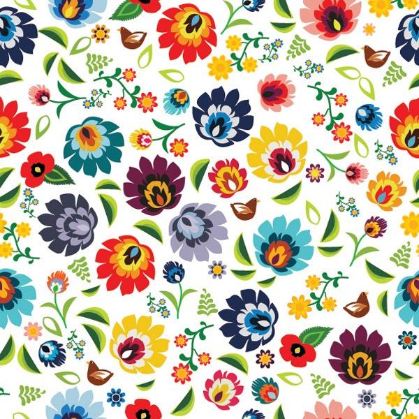 látka-bavlněné-plátno-premium-folk-flowers-white