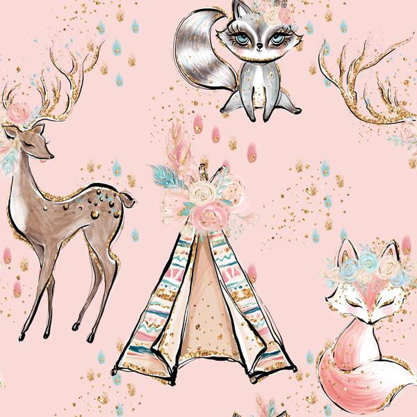 látka-bavlněné-plátno-premium-indiana-girl-pink