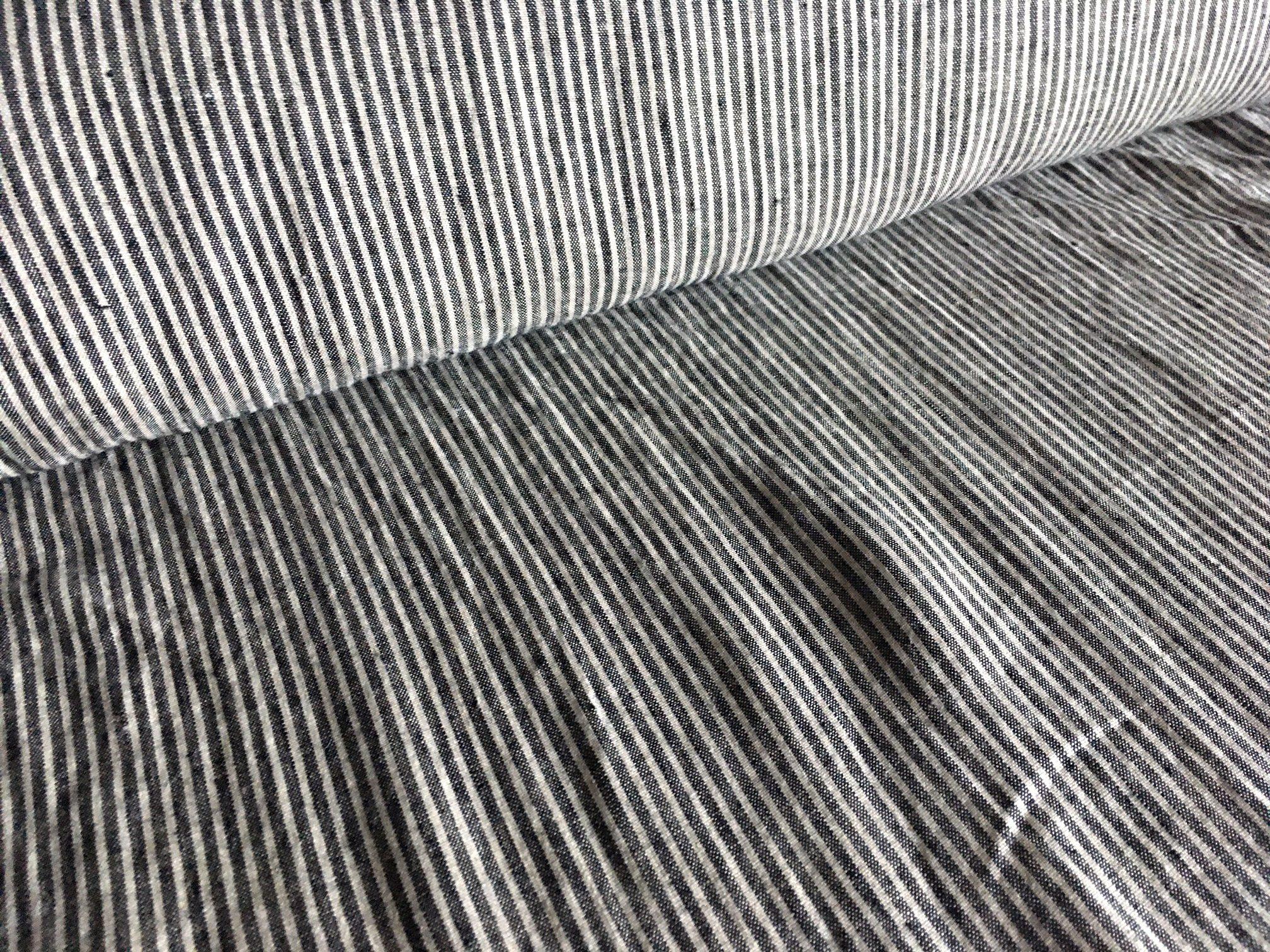 látka-len-premium-černo-šedý-pásek-170g