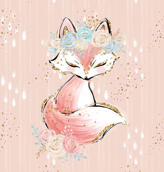 látka-bavlněné-plátno-indiana-girl-pink---panel-m-liška