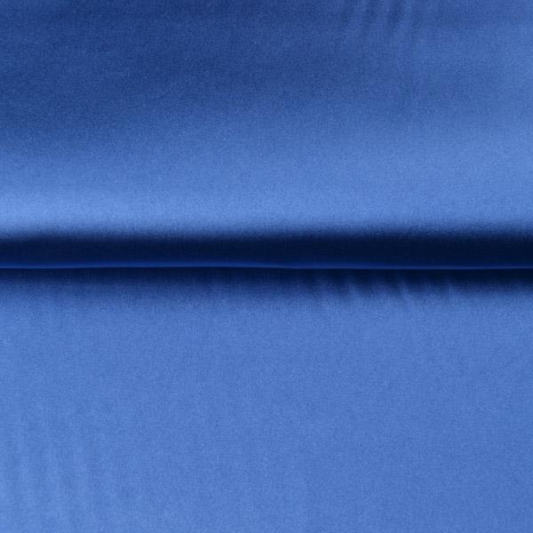 látka-strečový-satén-modrý