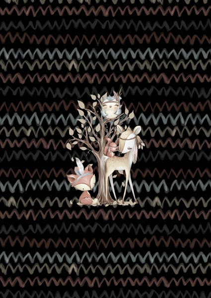 látka-teplákovina-milano-panel-l-40x60-forest-/-les-černý