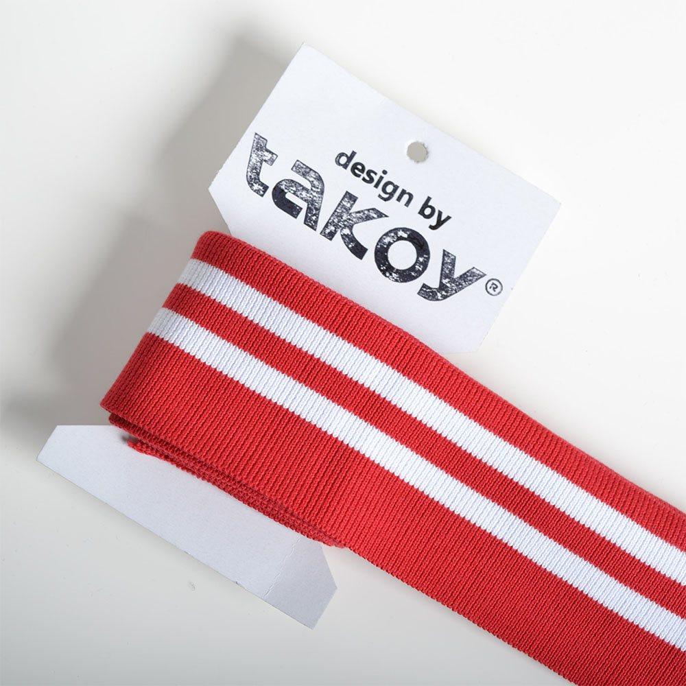 hotový-náplet-červený/bílý-pásek