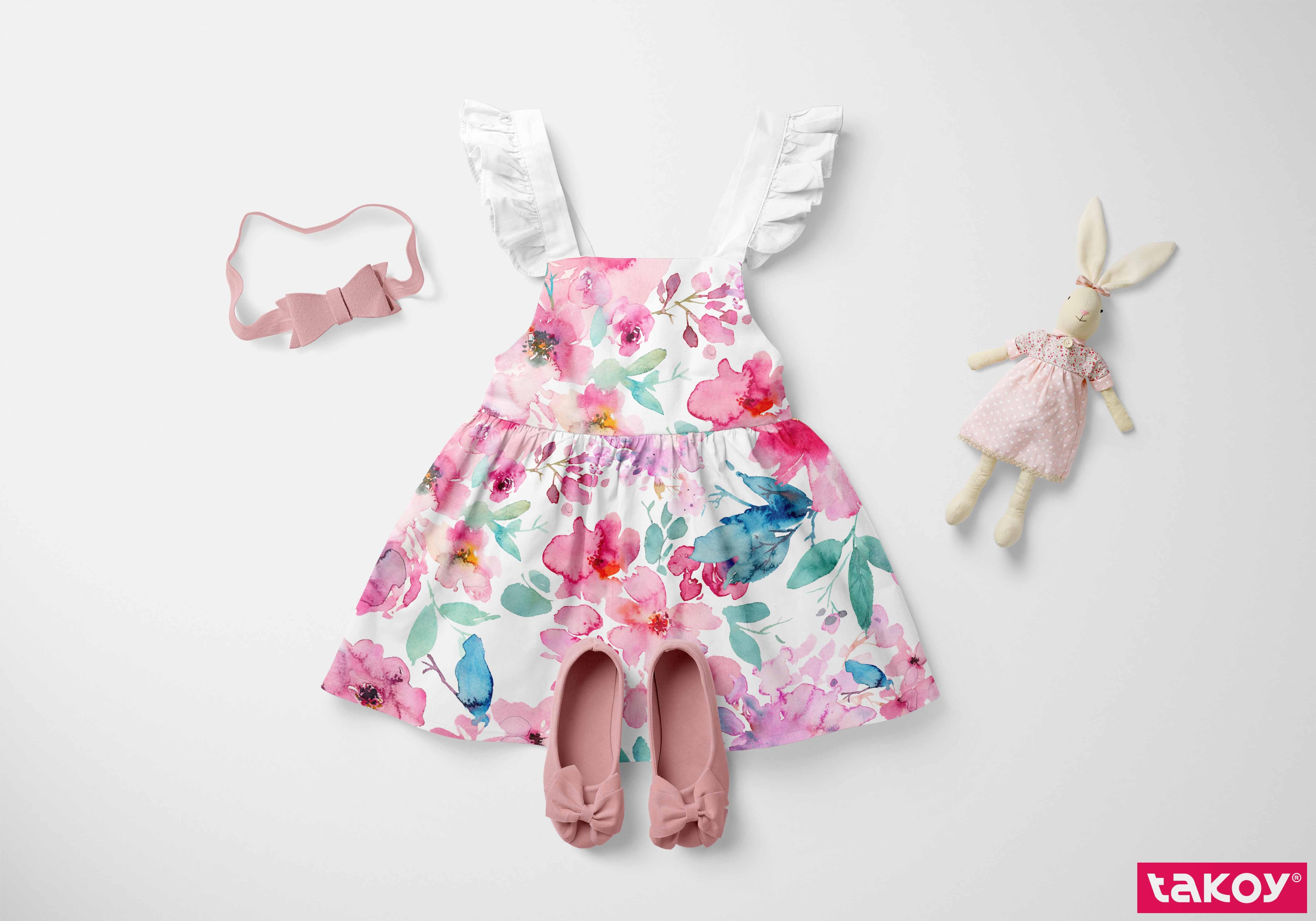 látka-bavlněné-plátno-pink-summer