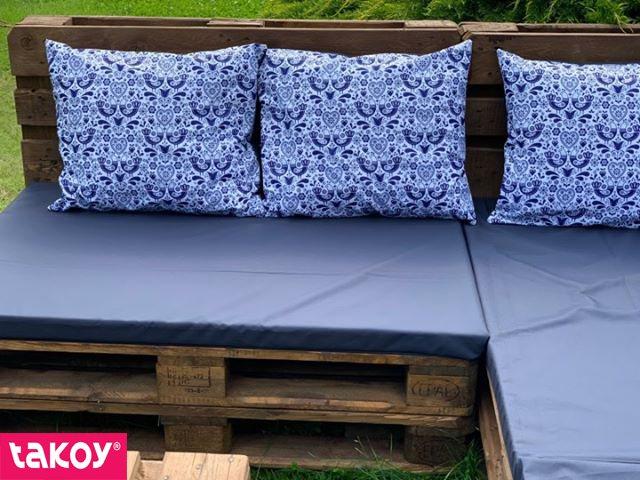látka-s-potiskem-nepromokavý-polyester/kočárkovina-td/ns-lidové-ptáčky-vzor-1-modré-na-bílém
