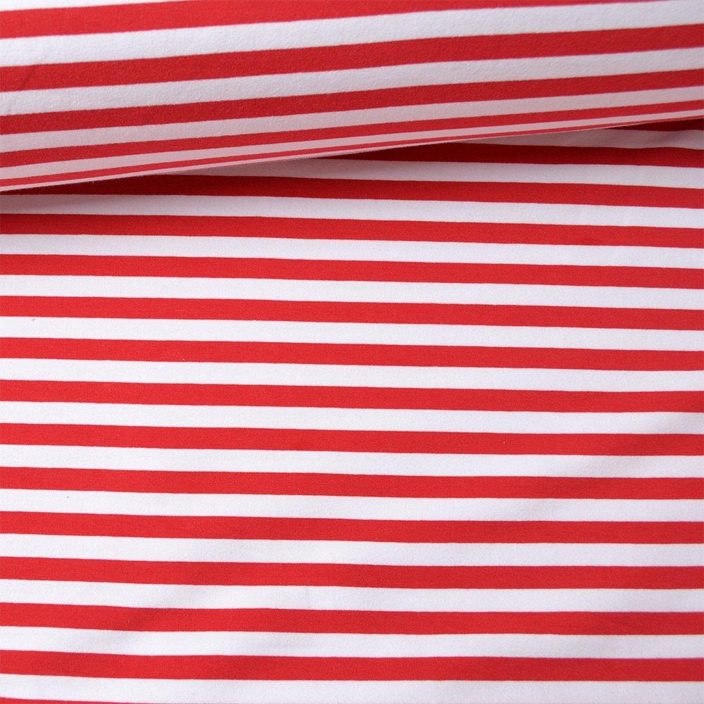 látka-teplákovina-bíločervený-pásek