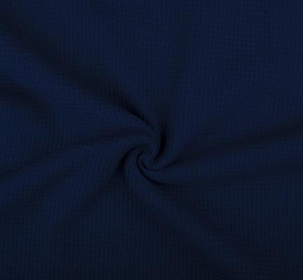 látka-bavlněné-vaflové-piké-barva-tmavě-modrá