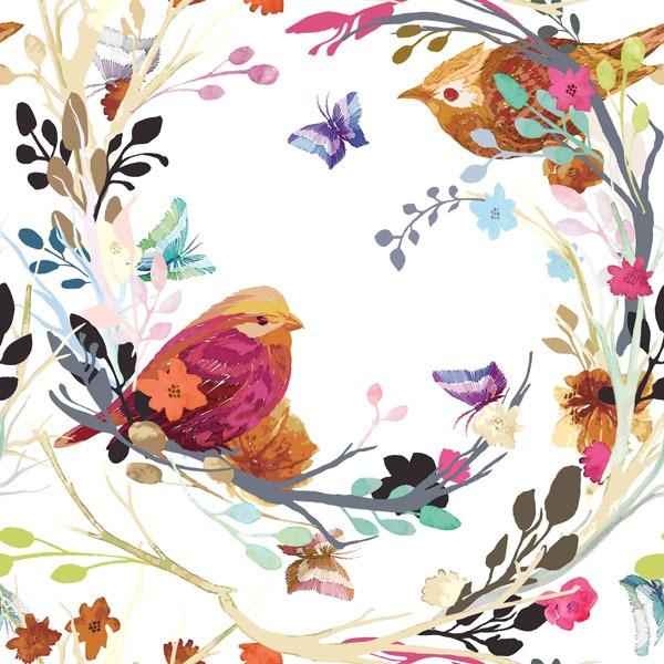 látka-bavlněné-plátno-premium-ptáčci-na-větvičkách